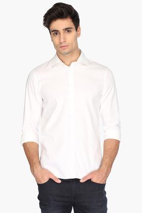 Formal Shirts (Men's) - Mens Regular Fit Solid Shirt
