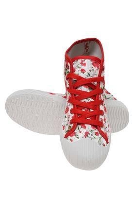 Girls Casual Wear Laceup Sneakers
