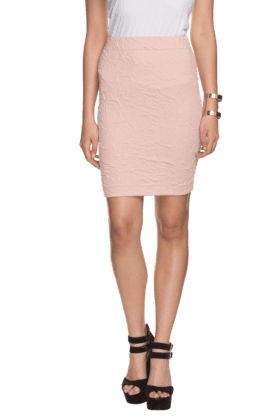 ELLIZA DONATEIN Womens Textured Pencil Skirt