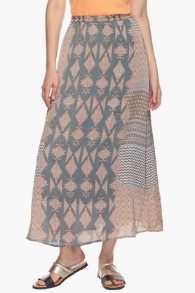 VERO MODA Womens Printed Maxi Skirt