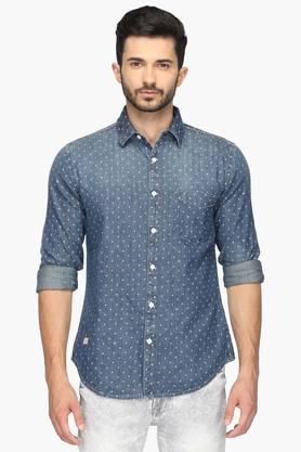 Pepe Formal Shirts (Men's) - Mens Slim Fit Printed Shirt