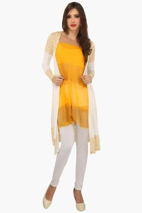 IRA SOLEIL Womens Slim Fit Printed Kurta With Shrug (Buy Any Ira Soleil Product And Get A Necklace Free)