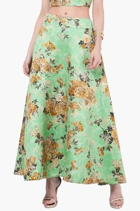 INDYA Womens Printed Maxi Skirt - 201845616