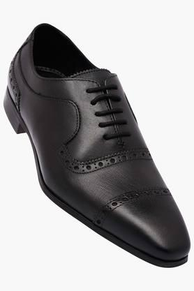RUOSHMens Leather Lace Up Oxford Shoes