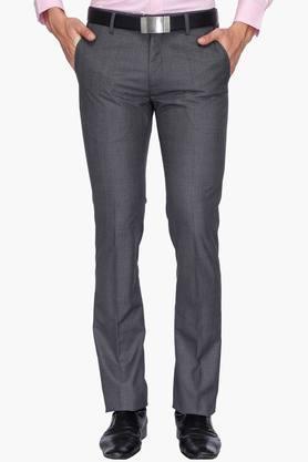 ARROWMens 4 Pocket Slim Fit Slub Formal Trousers