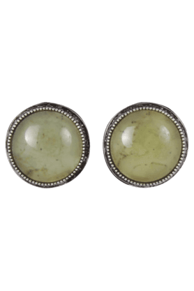 Beautiful Designer Earrings with Cream Colour Stone