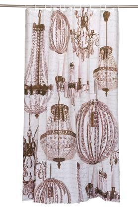 Printed Crystals Shower Curtain