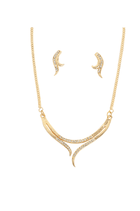 TOUCHSTONE Necklace Set -Mangalsutra Style - 8616256