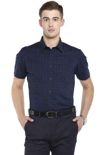 INDIAN TERRAIN -  CobaltCasual Shirts - Main