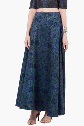 INDYA Womens Printed Maxi Skirt - 201845621