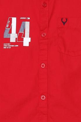Boys Graphic Print Casual Shirt