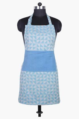 The Chaotic Triangles 100% Cotton Apron - Blue