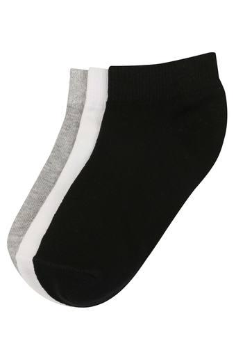 Unisex Solid and Slub No Show Socks - Pack of 3