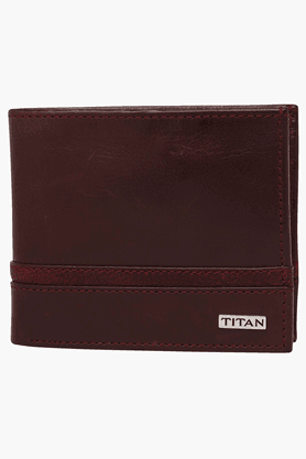 TITAN Mens Leather 1 Fold Wallet - 201070578