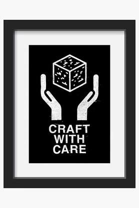 CRUDE AREA Black And White Craft With Care II Printed Canvas Art (Small)  ...