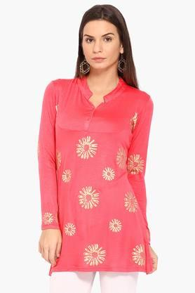 IRA SOLEILWomens Slim Fit Printed Kurta (Buy Any Ira Soleil Product And Get A Necklace Free) - 201787664