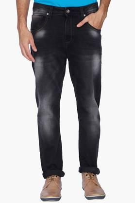UNITED COLORS OF BENETTON Mens Carrot Fit Heavy Wash Jeans
