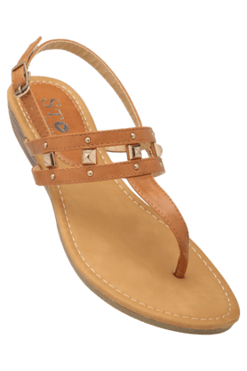 STOP Womens Daily Wear Slipon Wedge Sandal