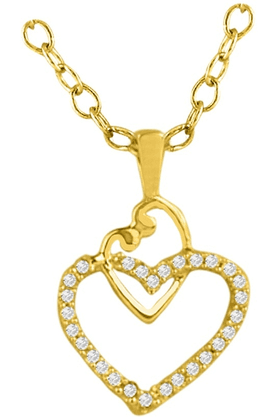 SPARKLES His & Her Collection 18 Kt Pendant In Gold & Real Diamond HHPXP8338
