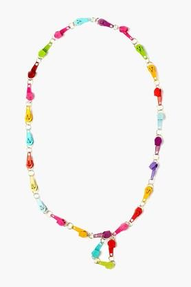 Girls Metal Zip Necklace (3 Years +)