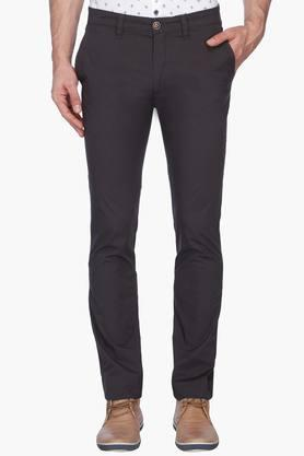 WILLS LIFESTYLE Mens 5 Pocket Solid Trousers
