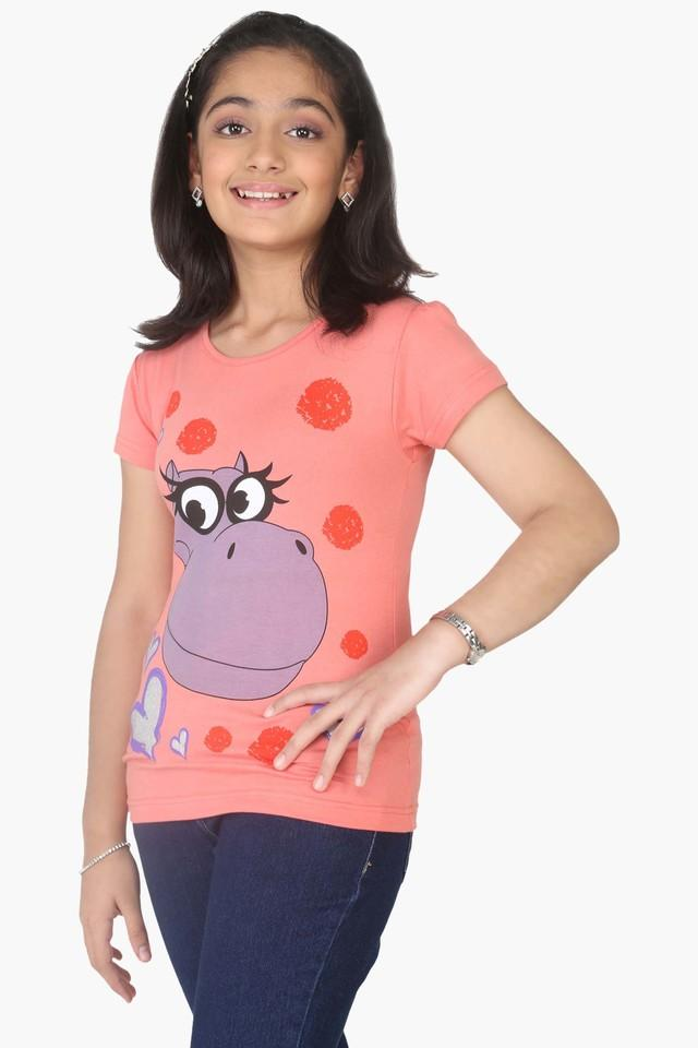 Girls Hippy Character Printed T-shirt