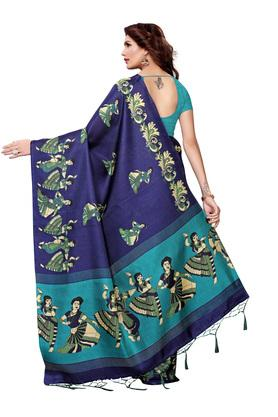 Womens Warli Print Saree with Blouse Piece