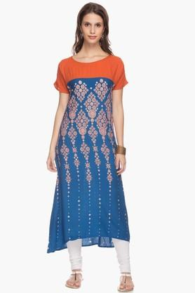 IMARA Womens Printed Long Kurta