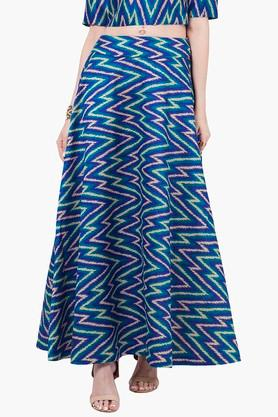 INDYA Womens Printed Maxi Skirt - 201845620