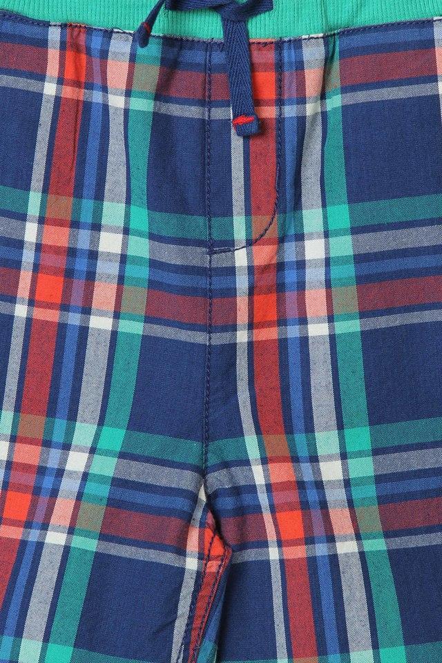 Boys Check 4 Pocket Shorts