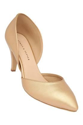 Womens Party Wear Slip On Heeled Shoes