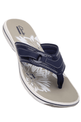 CLARKS Womens Navy Toned Casual Flat Sandal