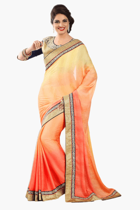 DEMARCAWomens Embroidered Saree (Buy Any Demarca Product & Get A Pair Of Matching Earrings Free) - 201151768_9508