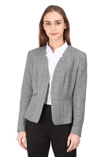 Womens Checked Formal Blazer