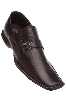 FRANCO LEONE Mens Brown Formal Leather Slipon Shoe - 8987862