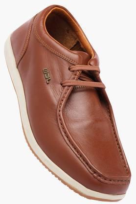 WOODLANDMens Leather Lace Up Boat Shoes