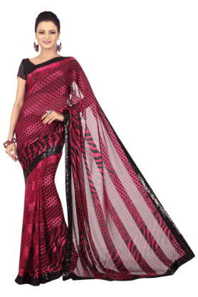 JASHN Womens Printed Saree