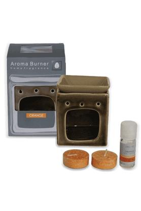 DECO AROOrange Aroma Burner Square Small Gift Set