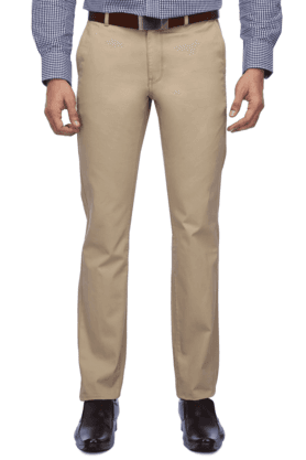 INDIAN TERRAIN Mens Flat Front Slim Fit Solid Trouser