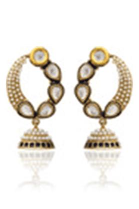 ZAVERI PEARLSTraditional Pattern Jhumki Earring - ZPFK1205