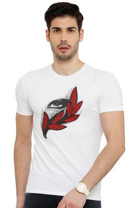 Mens Round Neck Embroidered T-Shirt