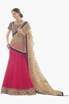 MAHOTSAV Womens Embroidered Semi-stitched Lehenga Choli - 201661628