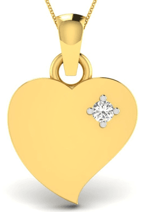 SPARKLESHis & Her Collection 92 Kt His & Her Diamond Pendants In 925 Sterling Silver And Real Diamond - 0.01 Cts HHP10481-92KT
