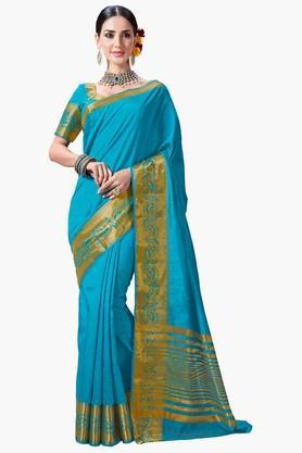 ASHIKAWomens Golden Weave Saree - 201802625