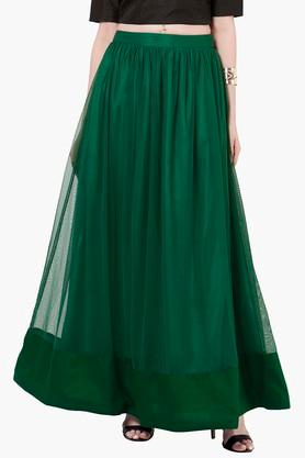 INDYA Womens Basic Maxi Skirt