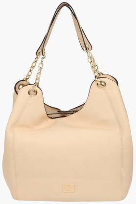 ALLEN SOLLY Womens Synthetic Leather Zipper Closure Shoulder Handbag