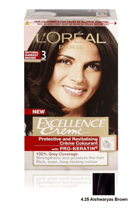 LOREAL Paris Excellence Hair Colour Shade No 4.25 Aishwaryas Brown