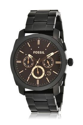 Mens Brown Dial Metallic Chronograph Watch - FS4682IE