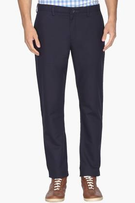 BLACKBERRYS Mens Slim Fit 4 Pocket Solid Trousers