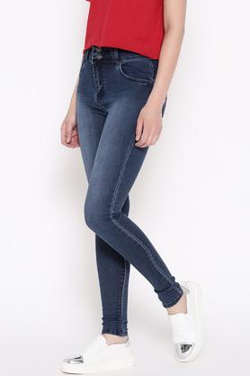 Womens Skinny Fit Mild Wash Jeans